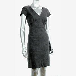 Knit Cap-Sleeve Mini-dress